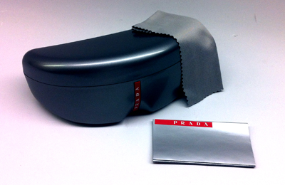 9d3b267c217 Prada linea rossa glasses case and cleaning cloth